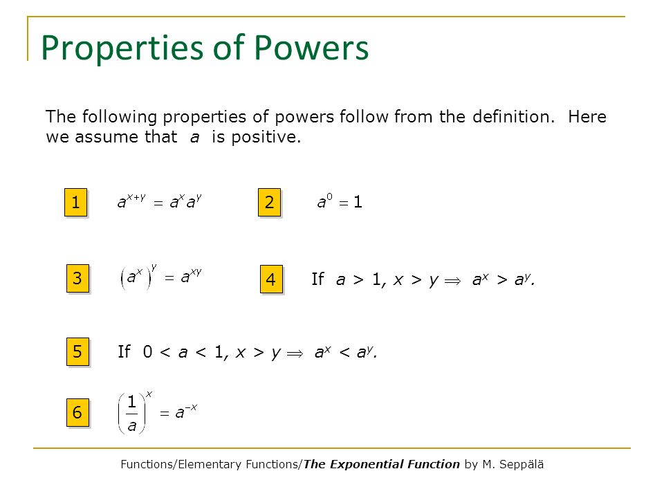 The Exponential Function - ppt video online download