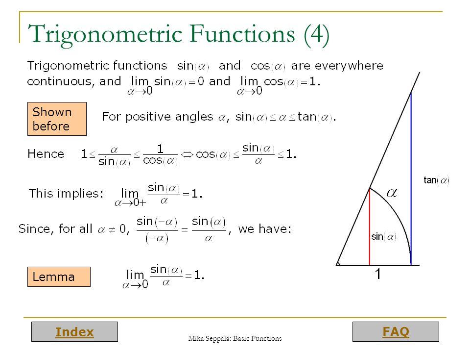 Trigonometric Functions (4)