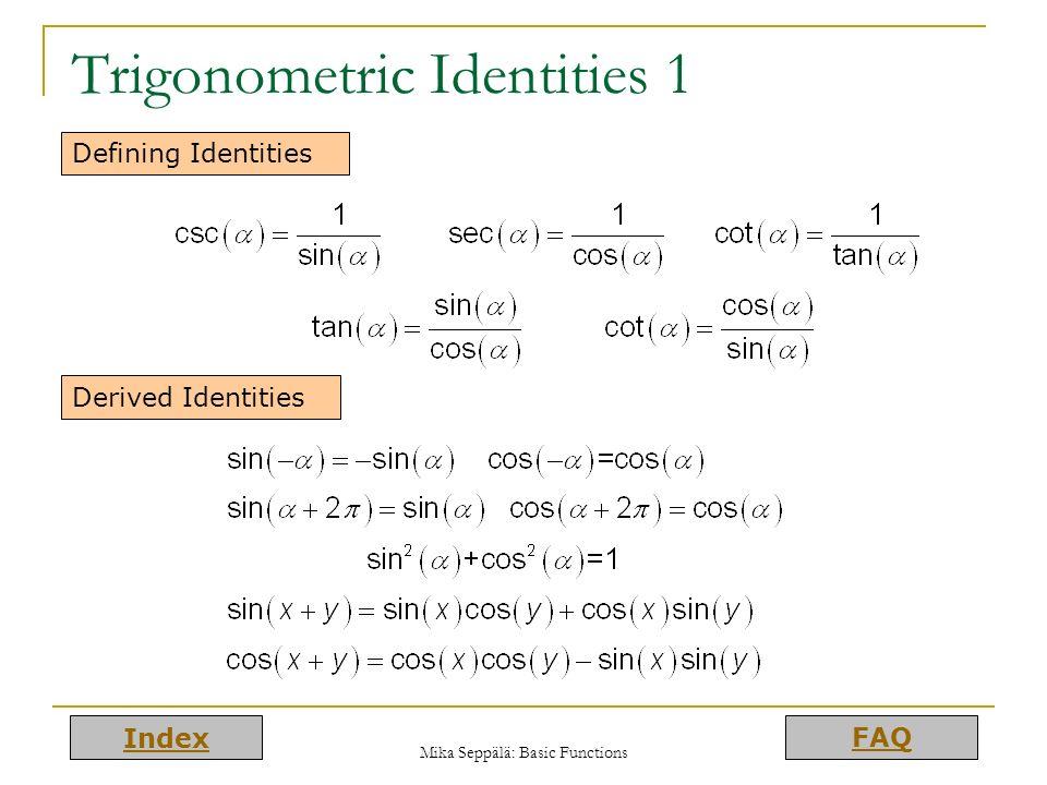 Trigonometric Identities 1