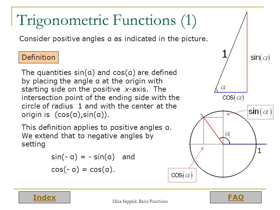 Trigonometric Functions (1)