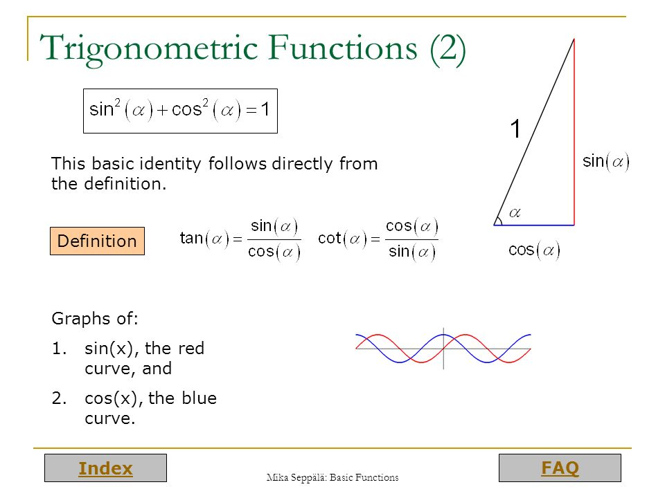 Trigonometric Functions (2)