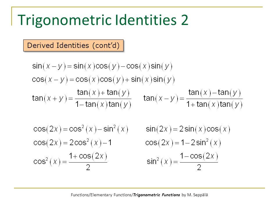 Trigonometric Identities 2