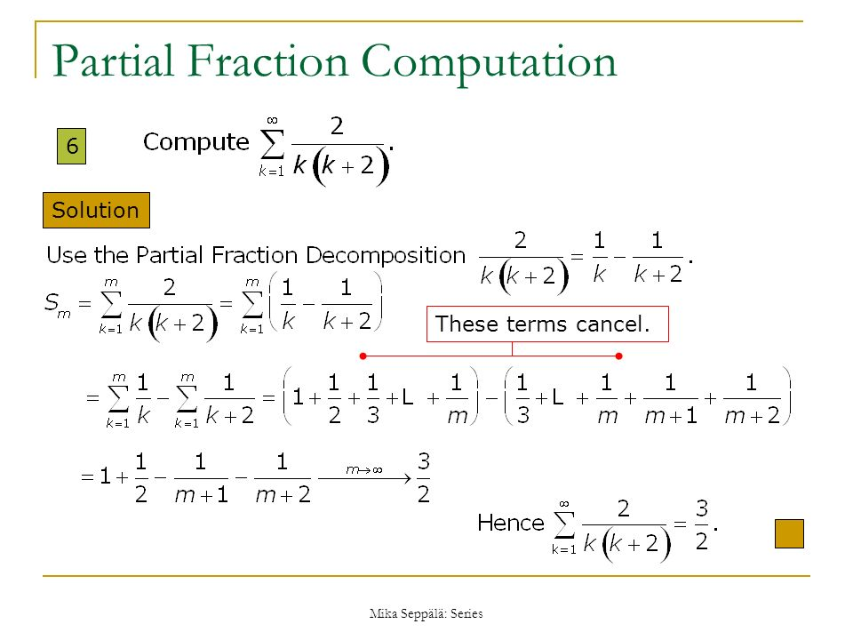 Partial Fraction Computation