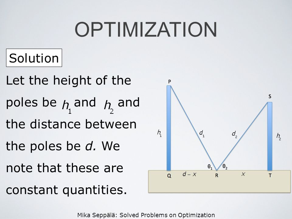 OPTIMIZATION Solution