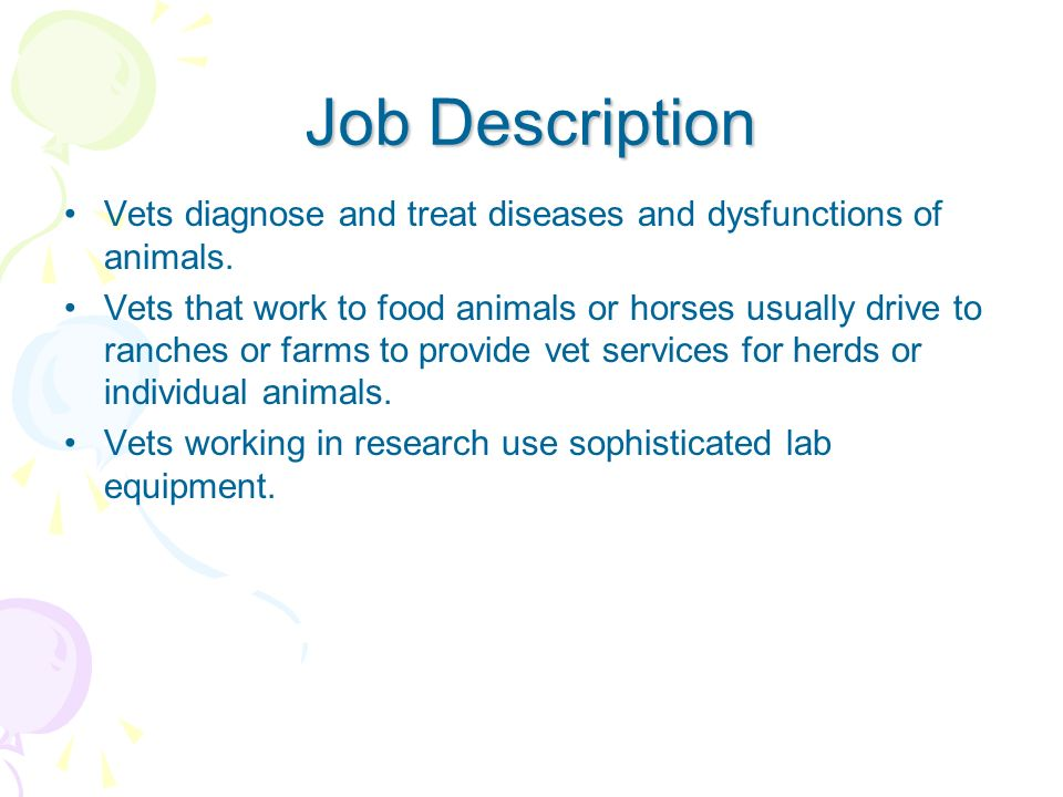 Veterinarian Daina Elvenia  Ppt Video Online Download
