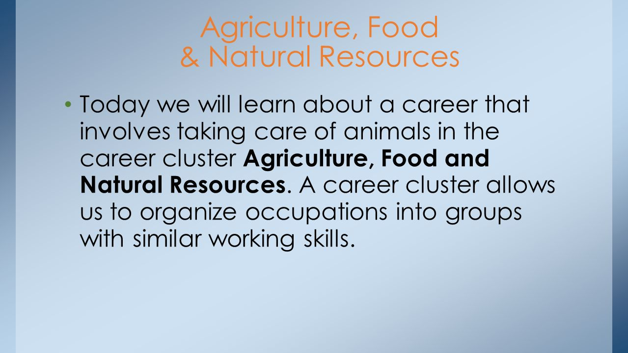 Career cluster agriculture food and natural resources