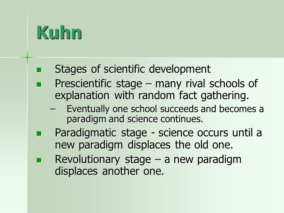 how the history of science and its progress by kuhn From kuhn to lakatos to laudan peter barker  such as world hypotheses, play in science kuhn  that viewing science and its history through.