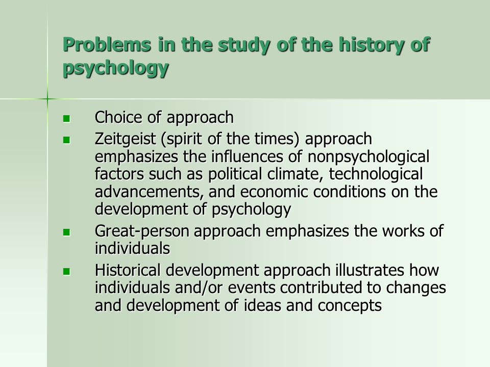a study of the history of psychology Welcome the university of toronto, founded in 1827, is one of the oldest universities in canada and one of the world's leading research centres the scientific study of psychology has a long and illustrious history at the university of toronto, beginning with j mark baldwin's founding of the tenth psychology laboratory in north america in 1891.