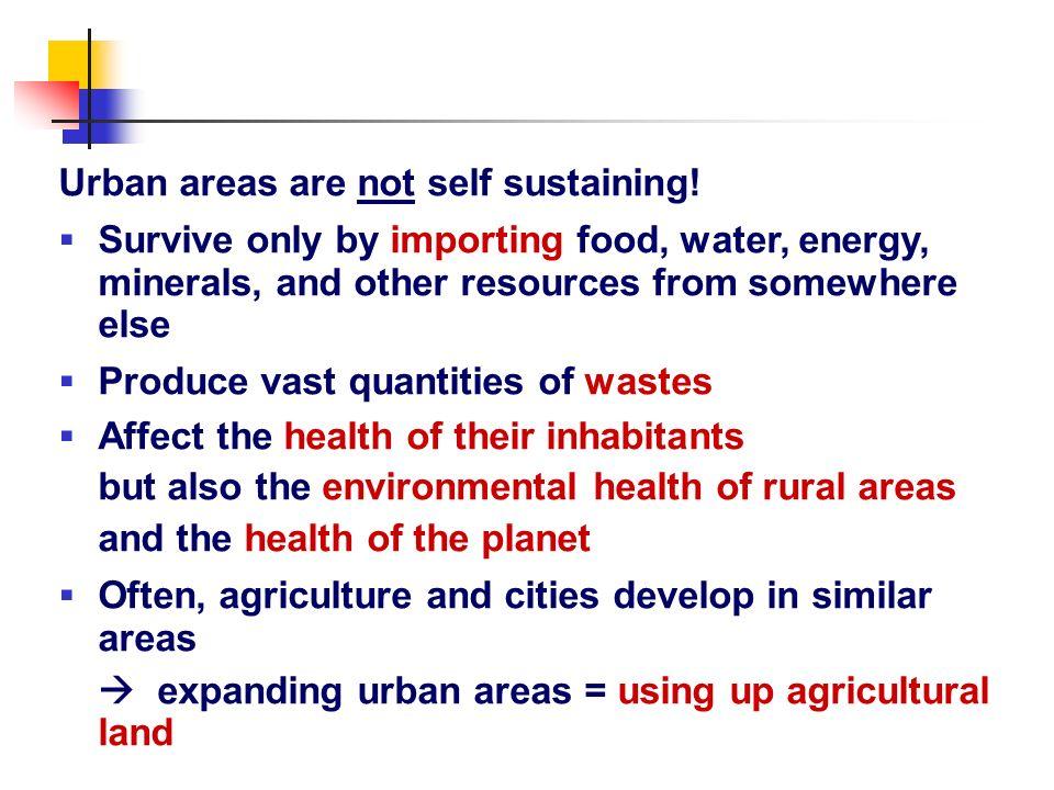 Urban areas are not self sustaining!