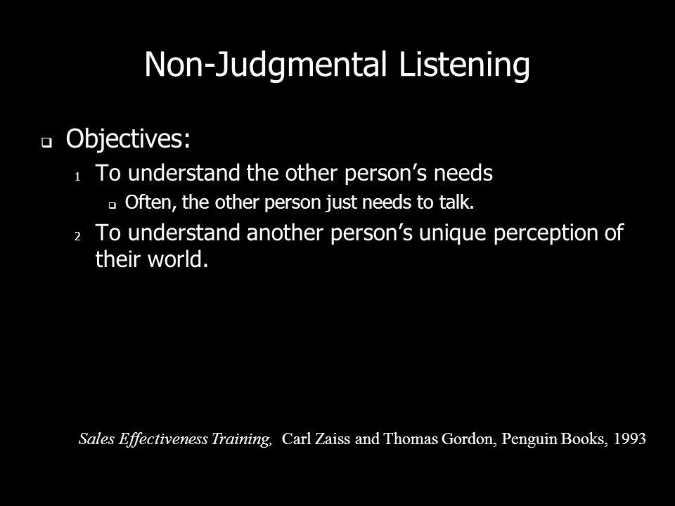 Non-Judgmental Listening