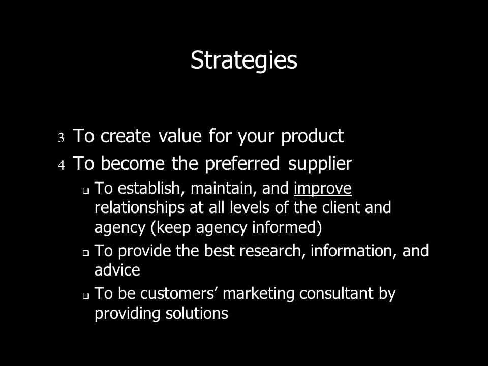 Strategies To create value for your product