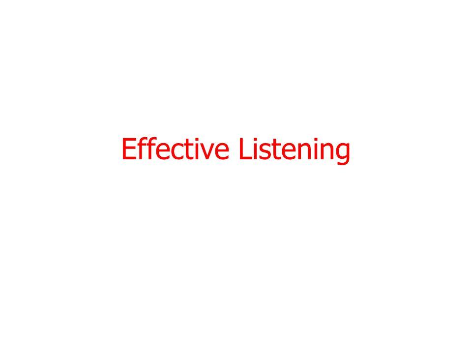 Effective Listening 3/28/2017
