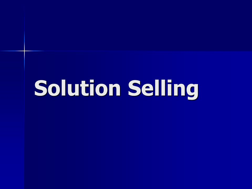 Solution Selling 1