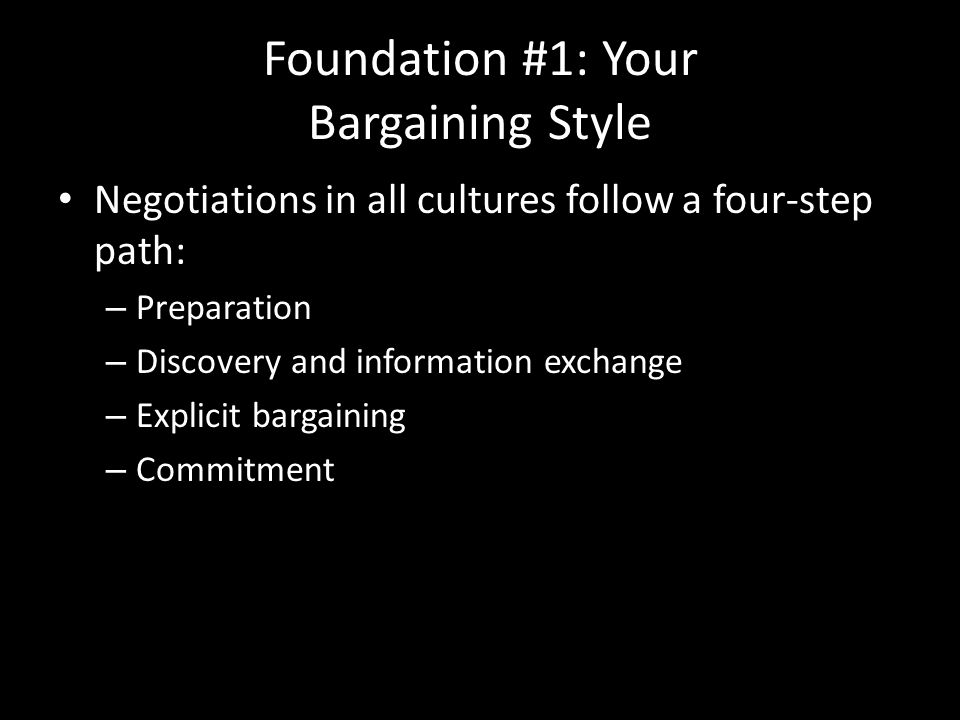 Foundation #1: Your Bargaining Style