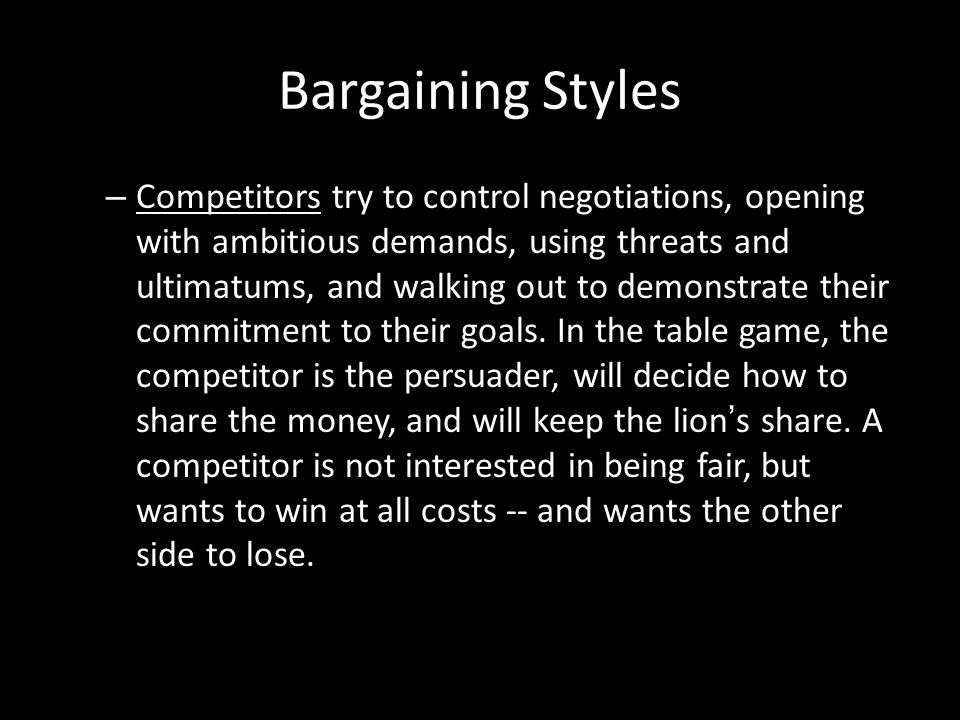 Bargaining Styles