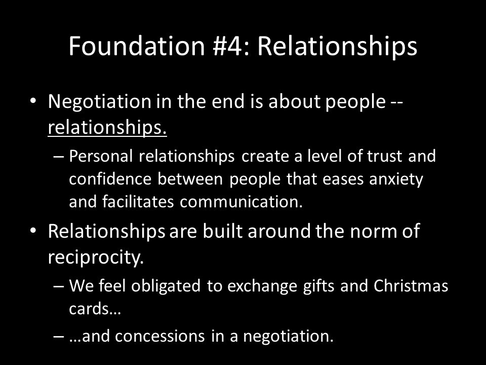 Foundation #4: Relationships
