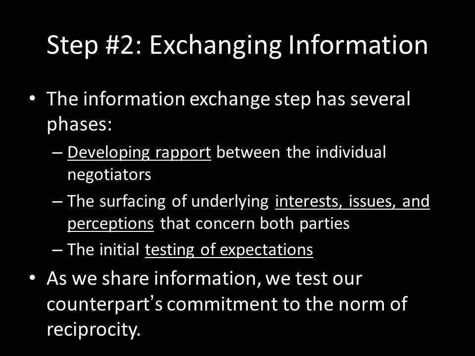 Step #2: Exchanging Information