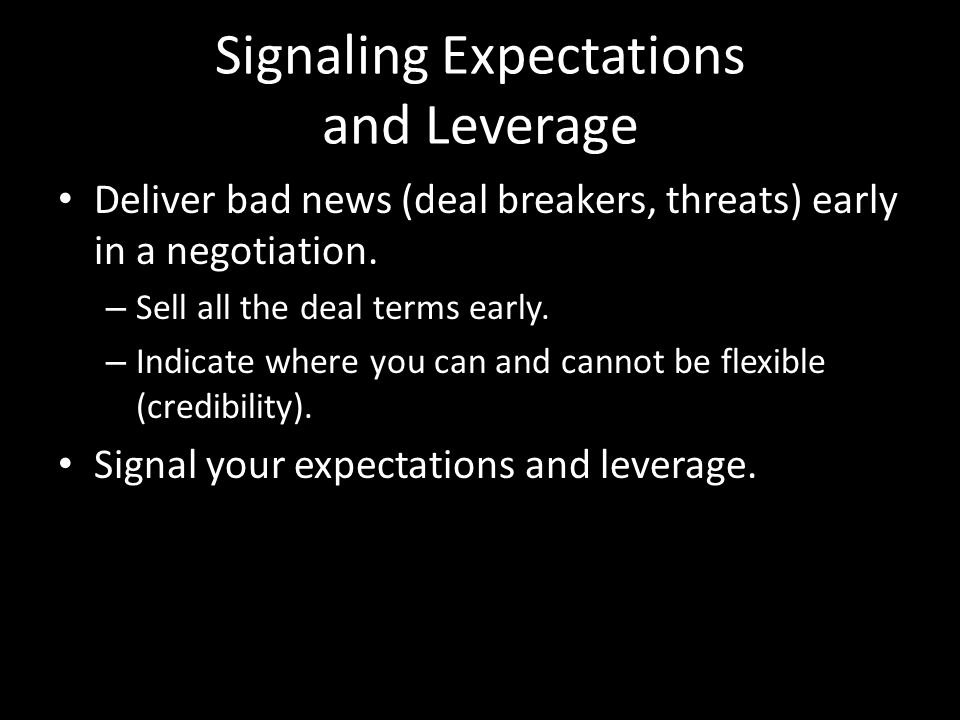 Signaling Expectations and Leverage