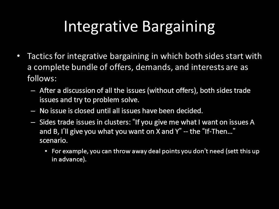 Integrative Bargaining