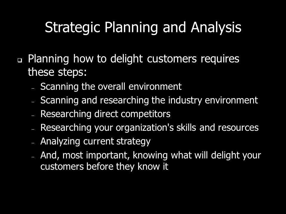 Strategic Planning and Analysis