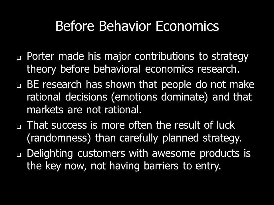 Before Behavior Economics