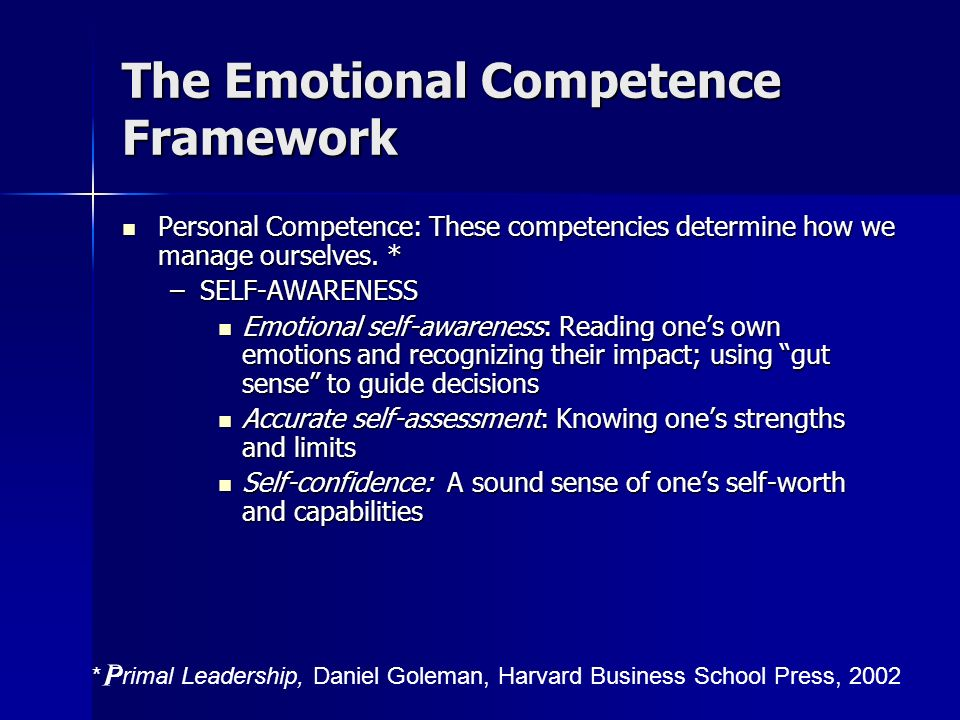 The Emotional Competence Framework