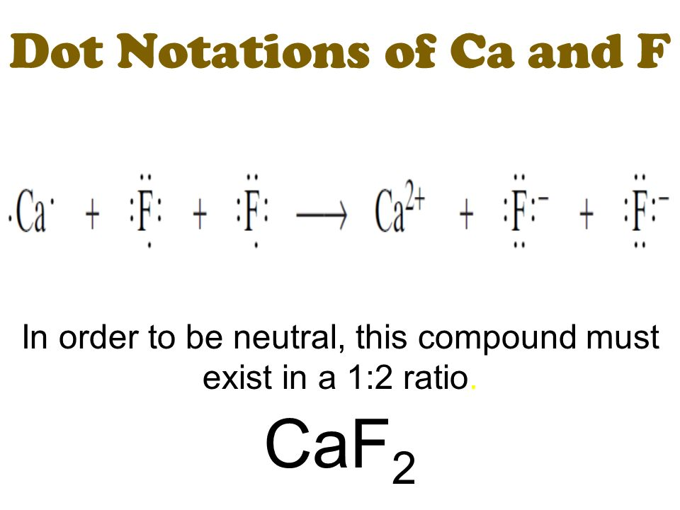 Dot Notations Of Ca And F on Calcium Lewis Dot Structure