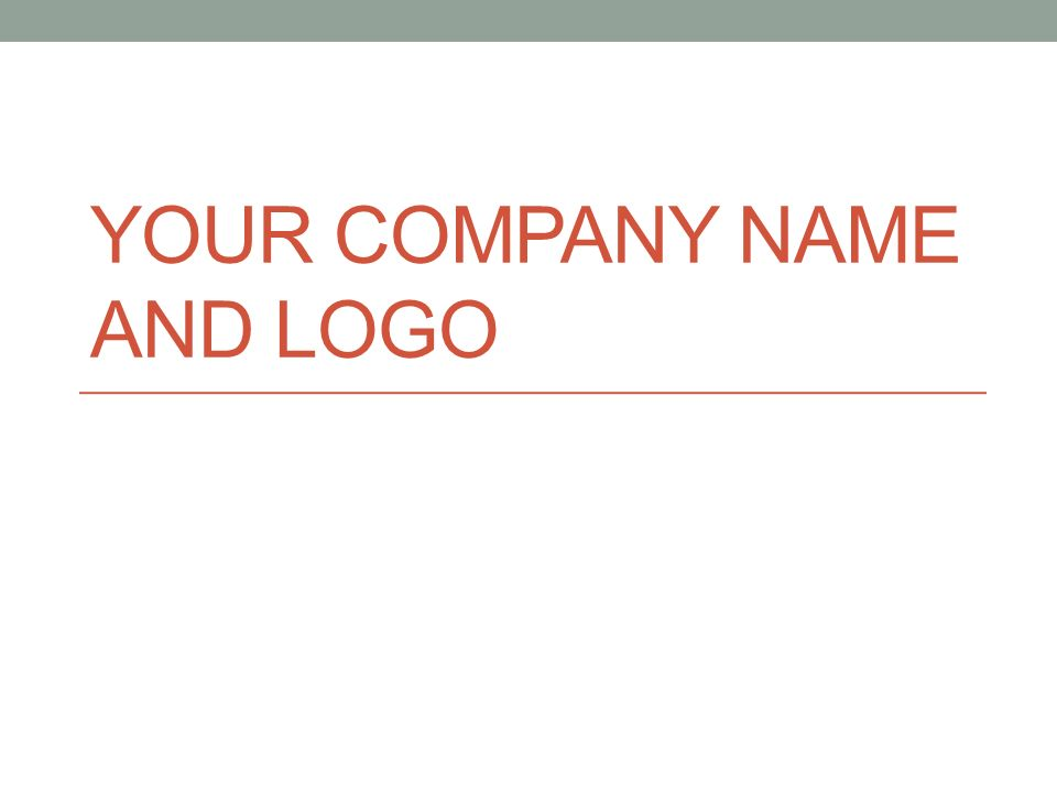 Your Company Name and Logo