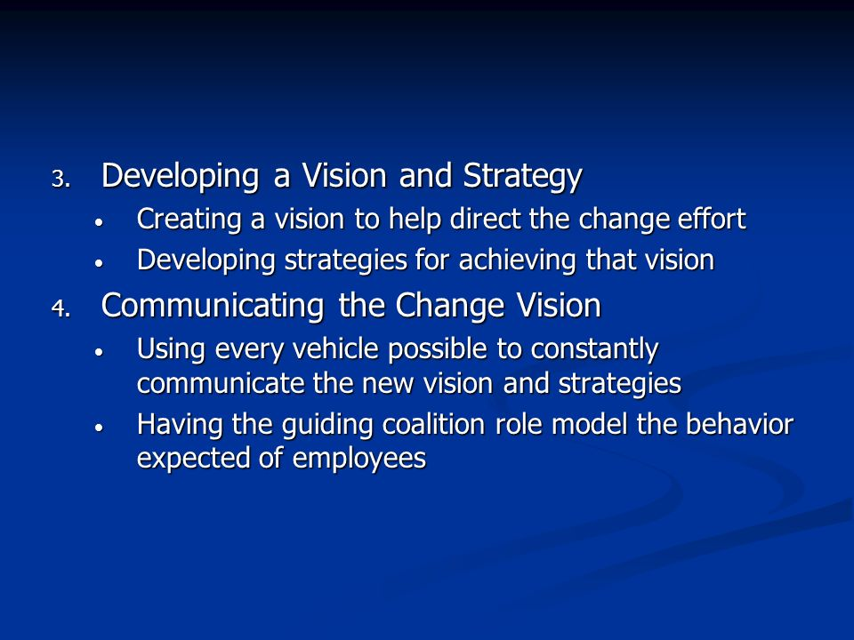 Developing a Vision and Strategy