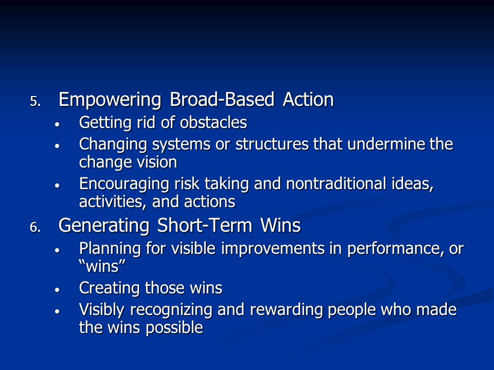 Empowering Broad-Based Action