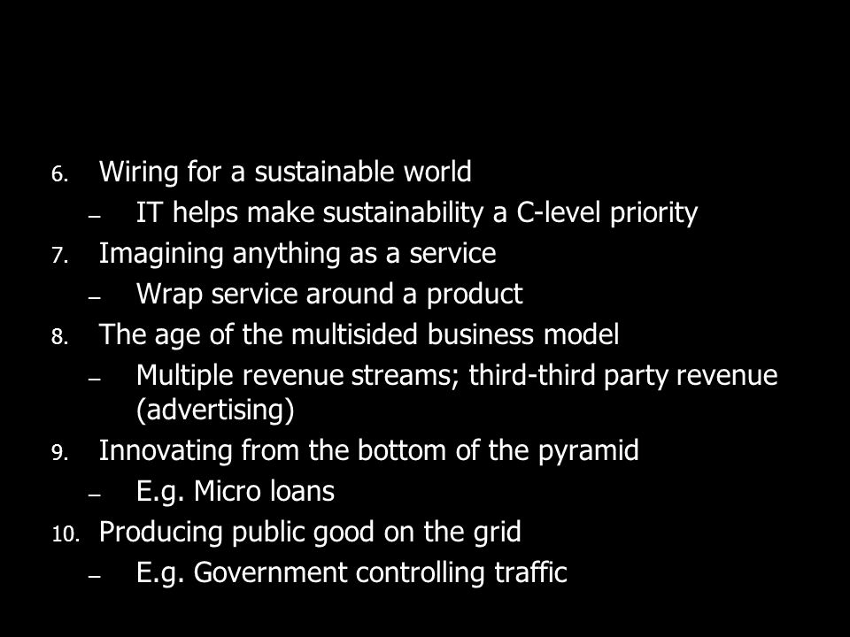 Wiring for a sustainable world
