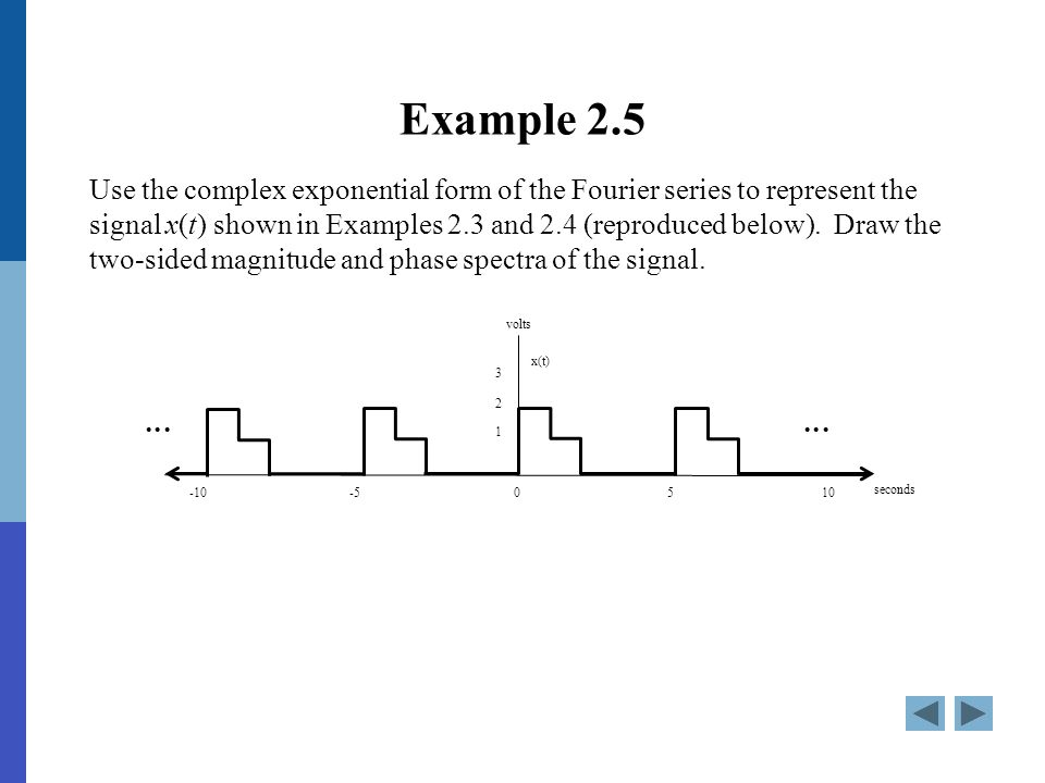 complex fourier series examples and solutions pdf