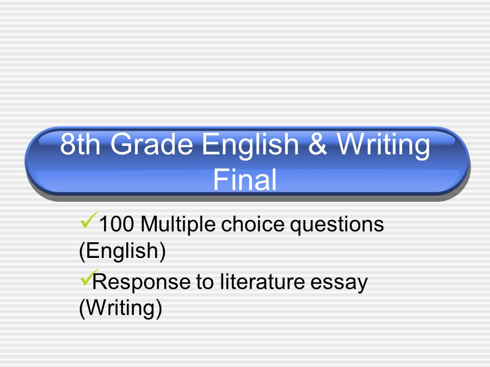 Essay writing for eighth graders