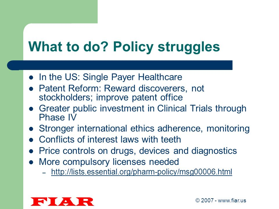 What to do Policy struggles