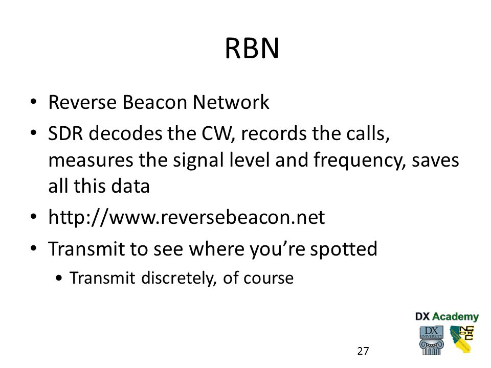 RBN Reverse Beacon Network