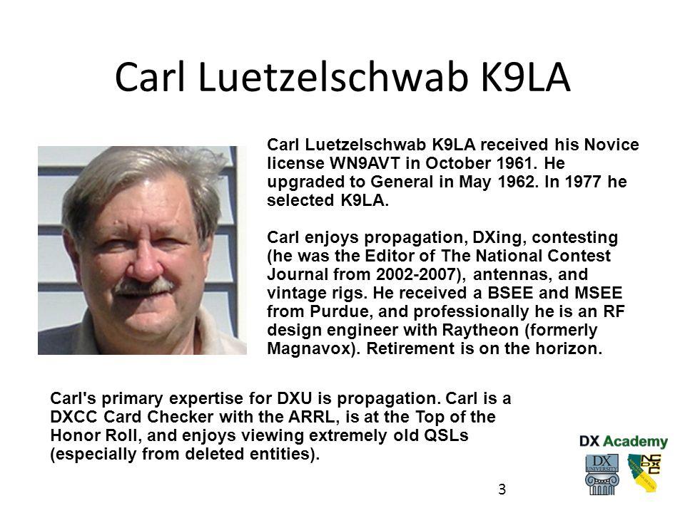 Carl Luetzelschwab K9LA