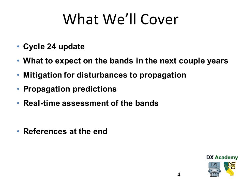 What We'll Cover Cycle 24 update