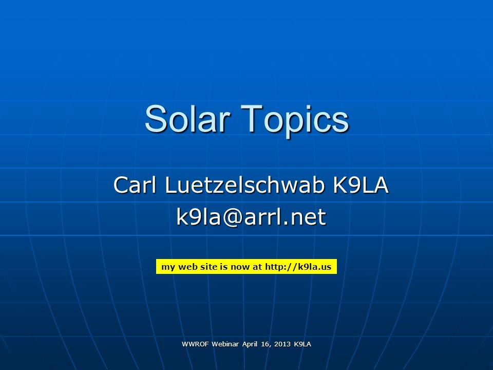 Carl Luetzelschwab K9LA k9la@arrl.net