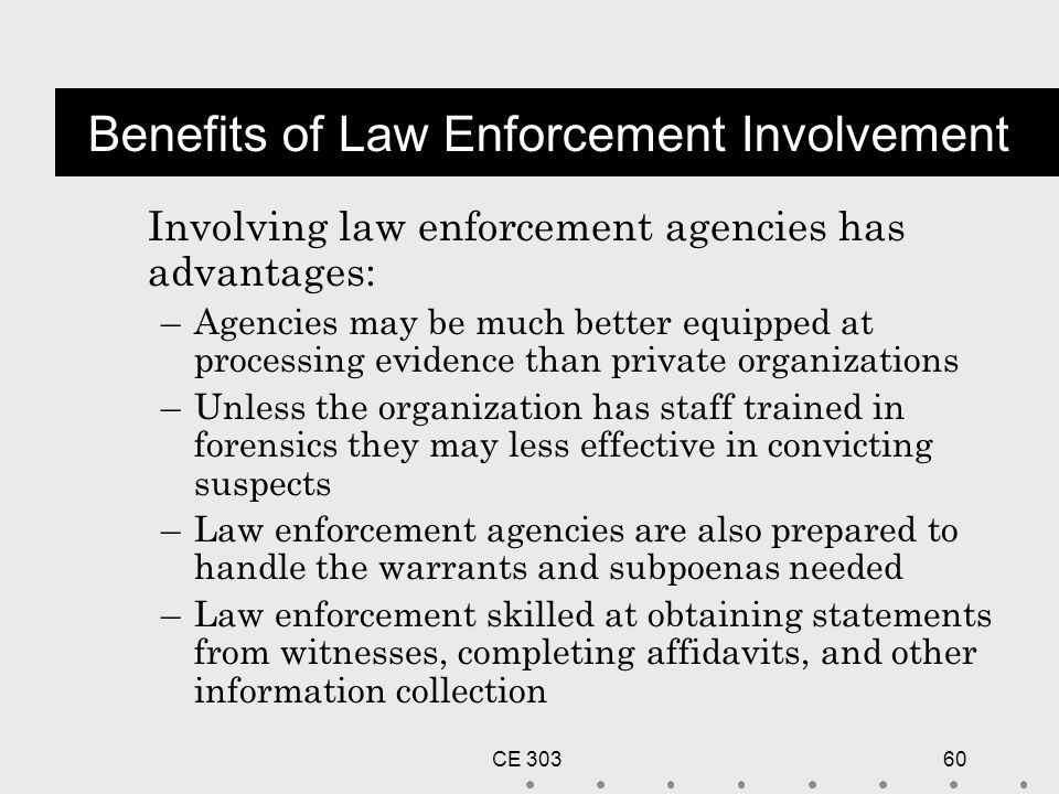 discuss advantages disadvantages of police criminal evidence act Ideas in american policing police foundation lecture series of the same name graph refers to scientific, not criminal, evidence.