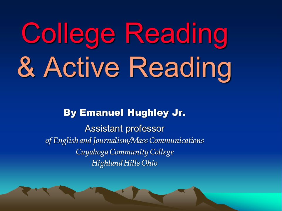 College Reading & Active Reading