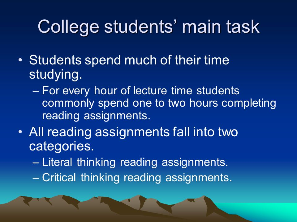 College students' main task