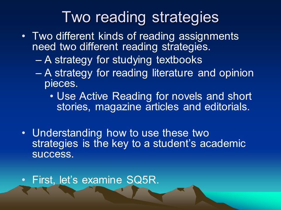 Two reading strategies