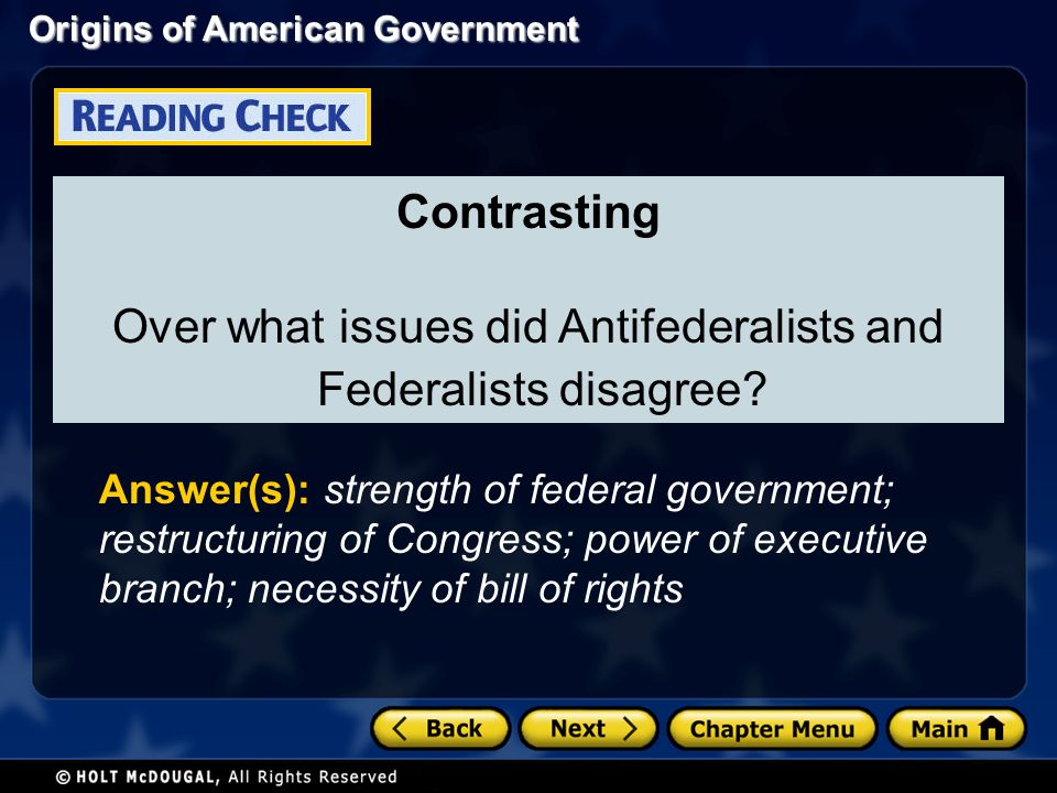 did the bill or rights satisfy the anti federalist concerns The tenth amendment (amendment x) to the united states constitution, which is  part of the bill of rights, was ratified on december 15, 1791 it expresses the  principle of federalism and states' rights, which strictly  the court ruled that the  anti-commandeering doctrine applied to congressional attempts to prevent the  states.