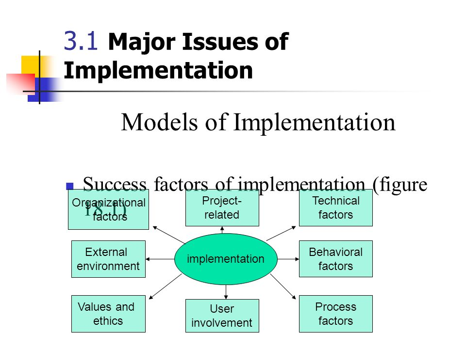 3.1 Major Issues of Implementation