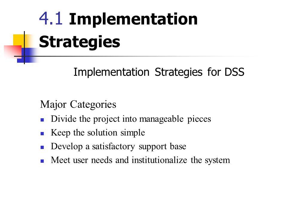 4.1 Implementation Strategies