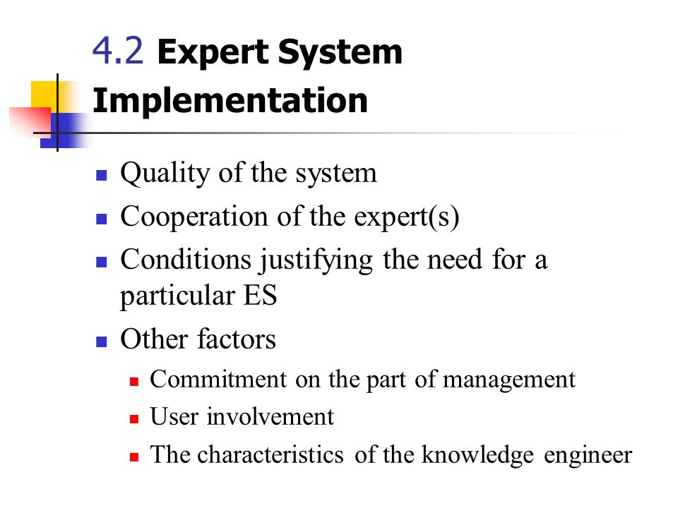 4.2 Expert System Implementation