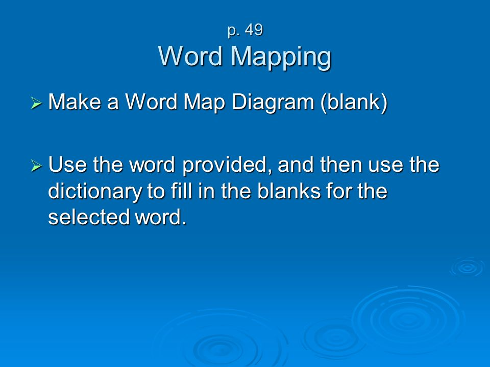 Make a Word Map Diagram (blank)