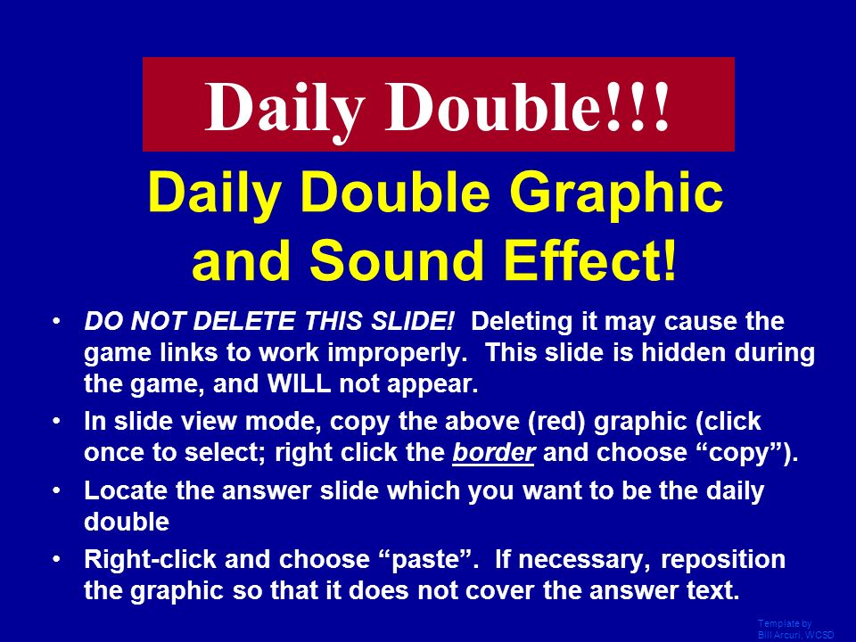 Daily Double Graphic and Sound Effect!