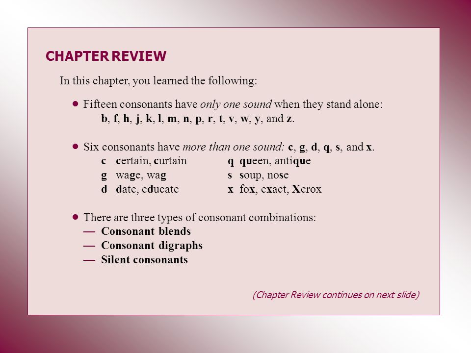 CHAPTER REVIEW In this chapter, you learned the following: