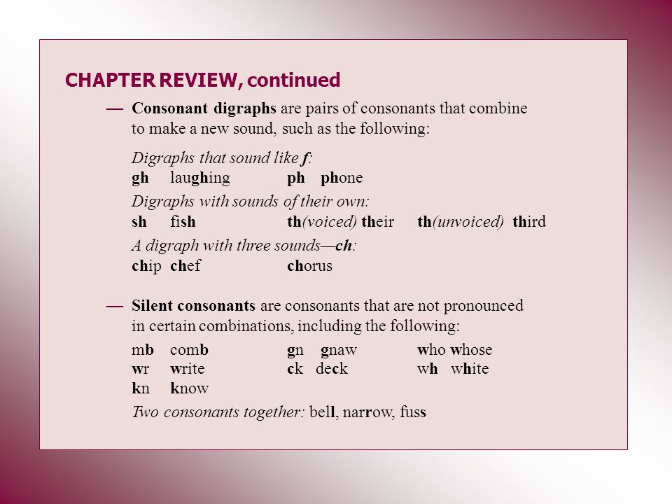 CHAPTER REVIEW, continued